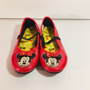 Disney Mini Mouse Flats Girls Size 1